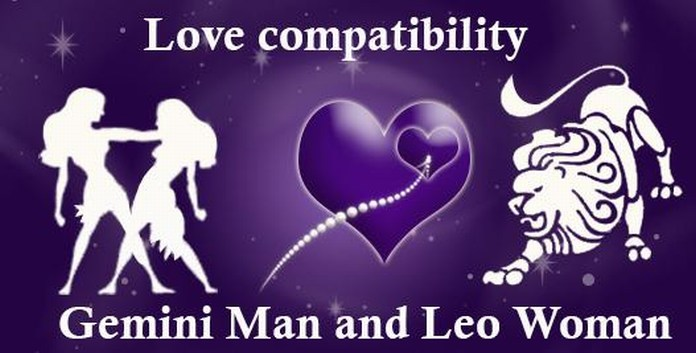 gemini man and leo woman love match