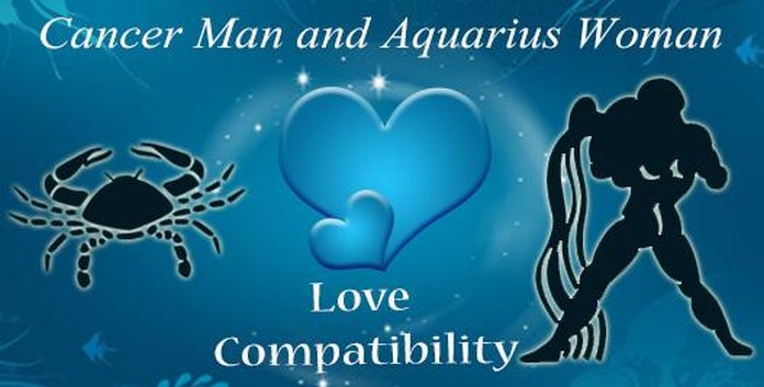 Cancer male and Aquarius femaleLove Compatibility