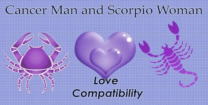 scorpio male and cancer female love match Scorpio man & cancer woman match but once you are sure and secured about your love, you will hold him tight as glue love/marriage compatibility report.