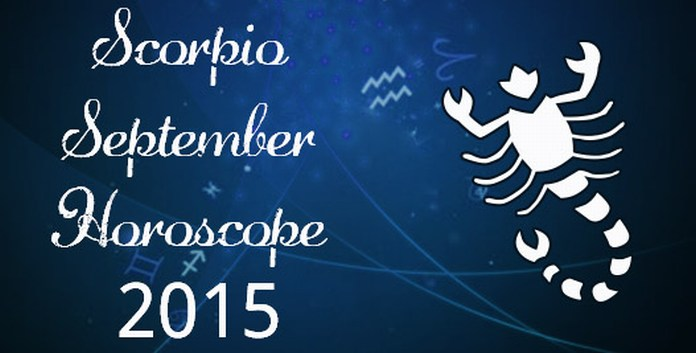 Scorpio Monthly Horoscope for September 2015