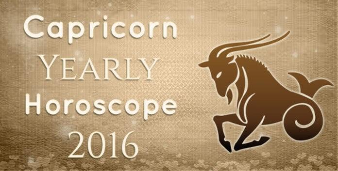 Capricorn Yearly Horoscope 2016