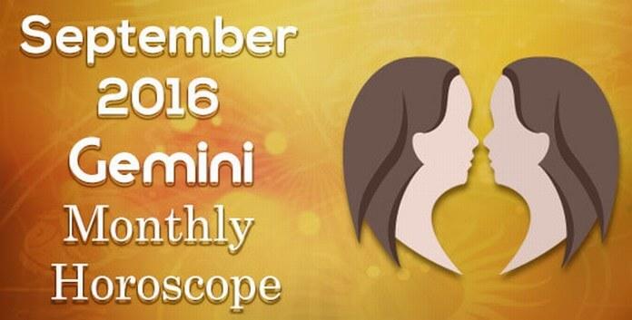 Gemini Horoscope September 2016