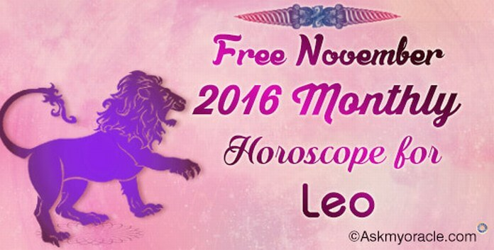Leo November 2016 Horoscope