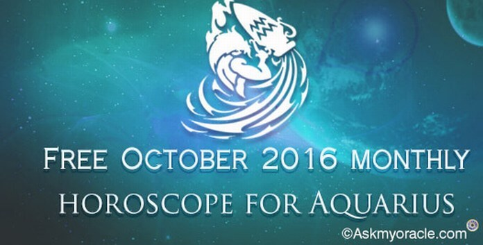 October 2016 monthly Aquarius horoscope