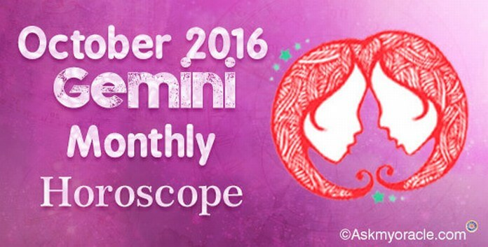 Gemini October 2016 Monthly Horoscope