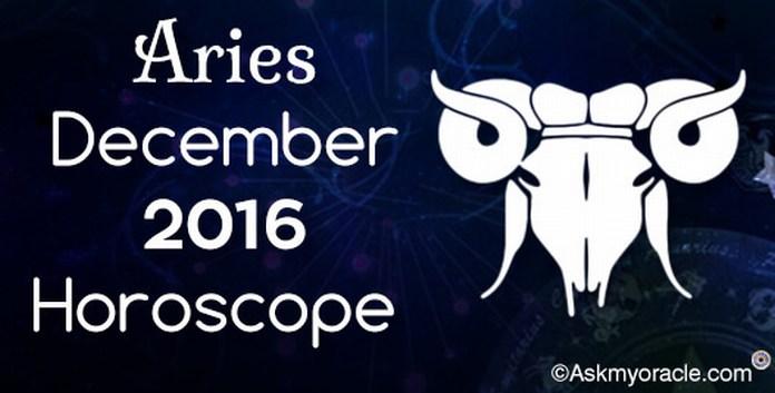 Aries December 2016 Horoscope