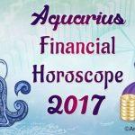 Aquarius Financial Horoscope 2017