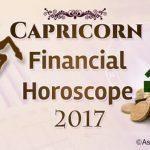 Capricorn Financial Horoscope 2017