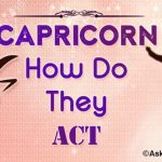Capricorn How do They Act