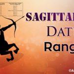 Sagittarius Date Range