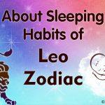 Leo sleeping habits