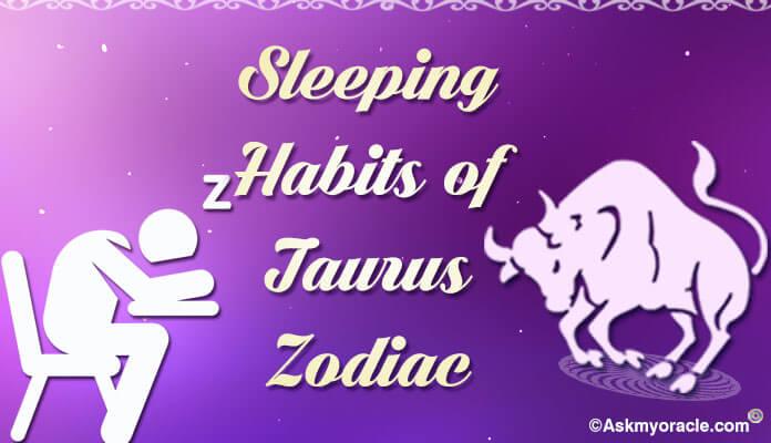 taurus sleeping habits