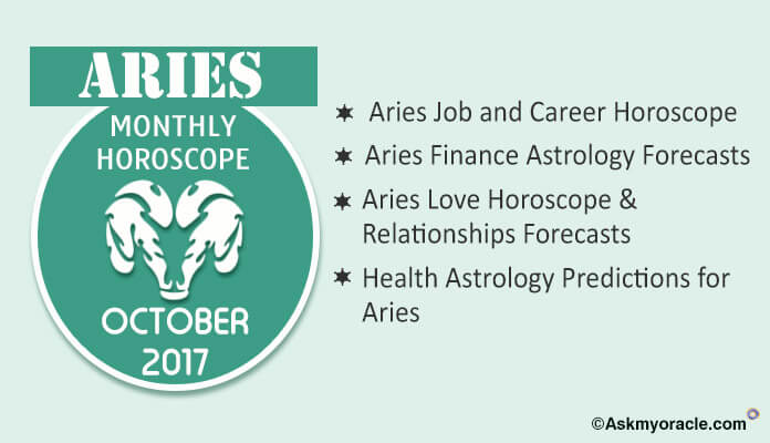 Aries Monthly Horoscope October 2017 Prediction