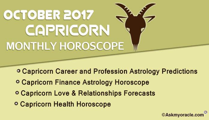 Capricorn Monthly Horoscope October 2017