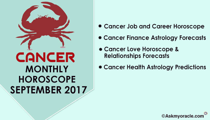 Cancer Monthly Horoscope September 2017