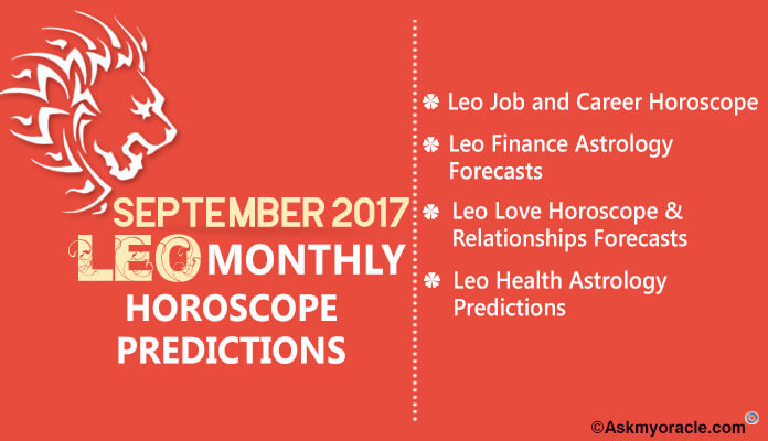 Leo Monthly Horoscope September 2017