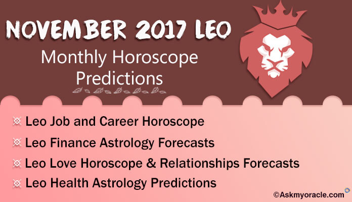 Leo Monthly Horoscope November 2017