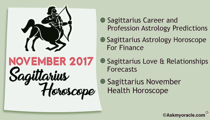 Sagittarius Monthly Horoscope November 2017