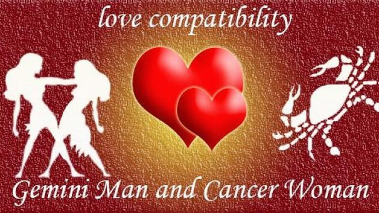 Gemini Man and Cancer Woman Love Compatibility