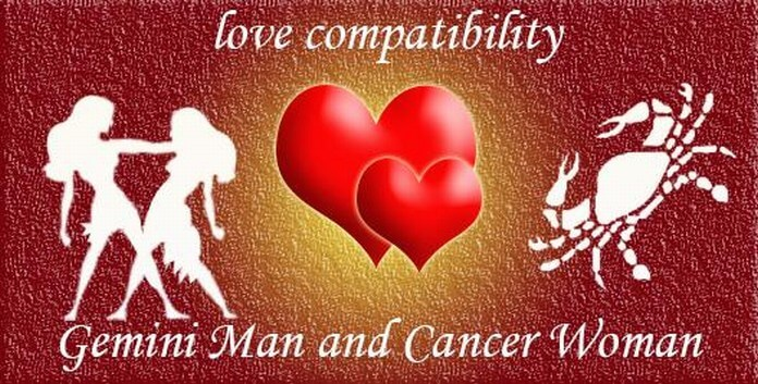 Gemini man and cancer woman in love