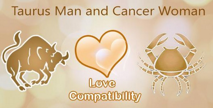 taurus male and cancer female love match