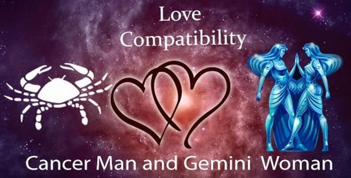Cancer male and Gemini female Love Compatibility