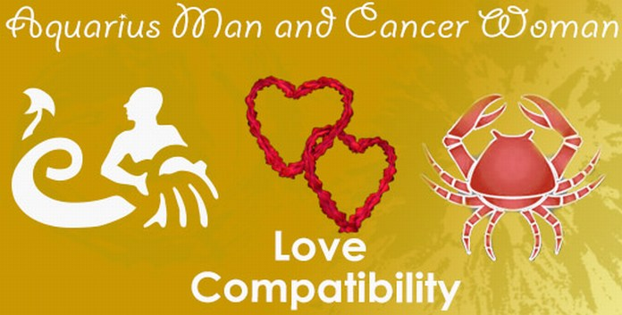 Love Compatibility Aquarius Man and Cancer Woman