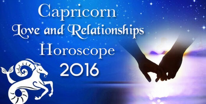 Capricorn Love and Relationships Horoscope 2016