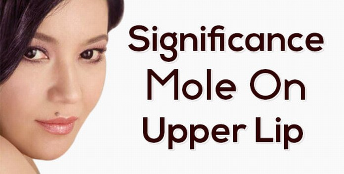 Mole on upper lip