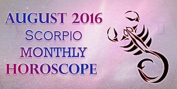 Scorpio August 2016 Horoscope