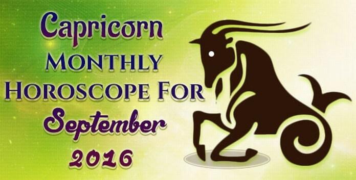 Capricorn September 2016 Horoscope