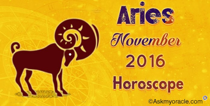 Aries November 2016 Horoscope
