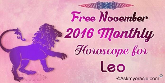 Leo November 2016 Horoscope