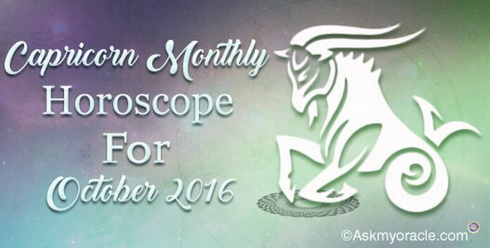 Capricorn October 2016 Monthly Horoscope