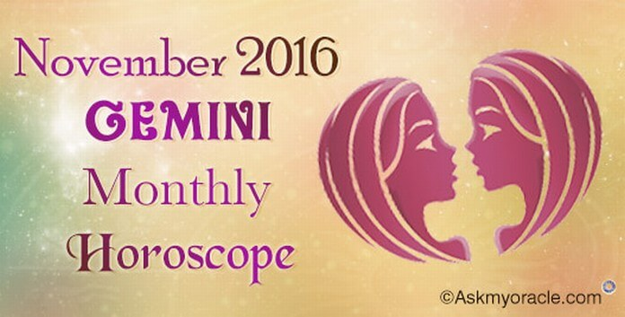 Gemini November 2016 Monthly Horoscope