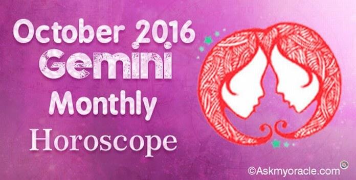 Gemini October 2016 Monthly Horoscope