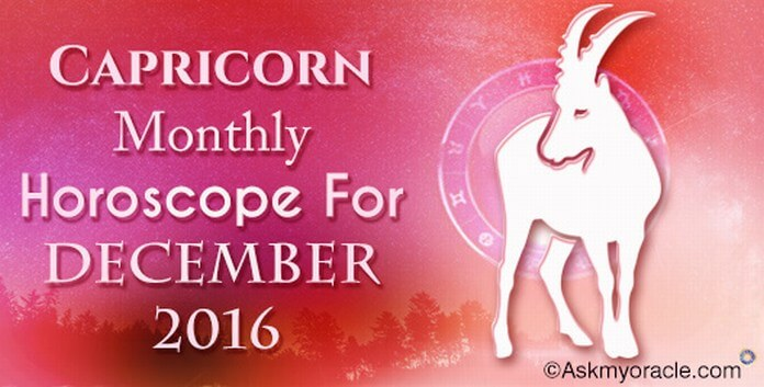Capricorn Monthly Horoscope December 2016