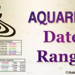 Aquarius Date Range