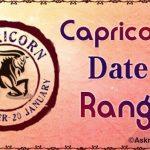 Capricorn Date Range