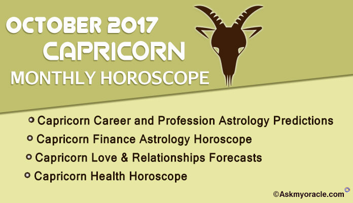 Capricorn Monthly Horoscope October 2017
