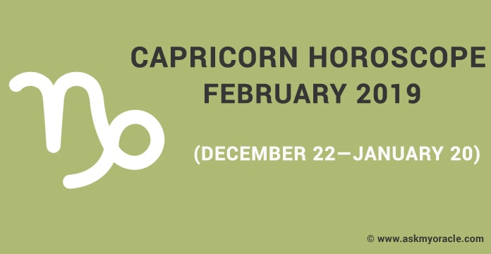 Capricorn Horoscope February 2019 - Capricorn Monthly Horoscope