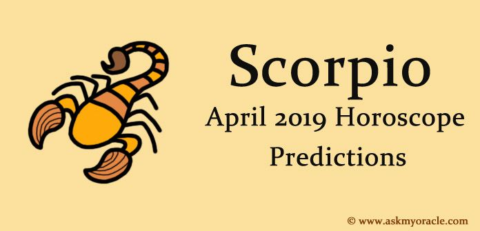 Scorpio April 2019 Horoscope - Monthly Horoscope